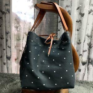 Kate Spade Bag Black/White Polka Dots Leather Trim
